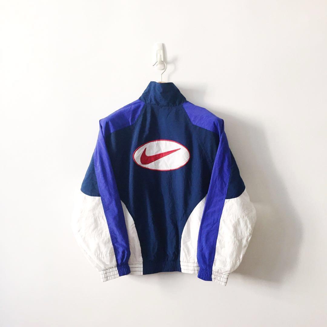 8f4599ad1 Nike Vintage Big Swoosh Colour Block Windbreaker Jacket, Men's ...