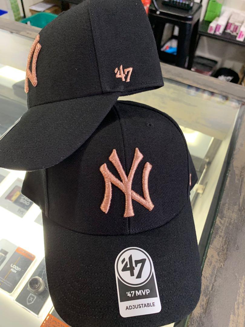 2dcd86f84faeb NY Baseball Cap Unisex Genuine Black Rose Gold, Men's Fashion, Accessories,  Caps & Hats on Carousell