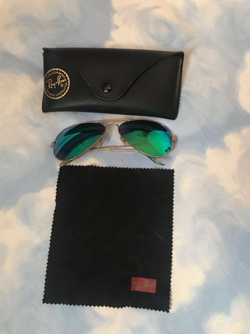 eb13051b83cfb Original! Rayban Flash lens Aviators sunglasses