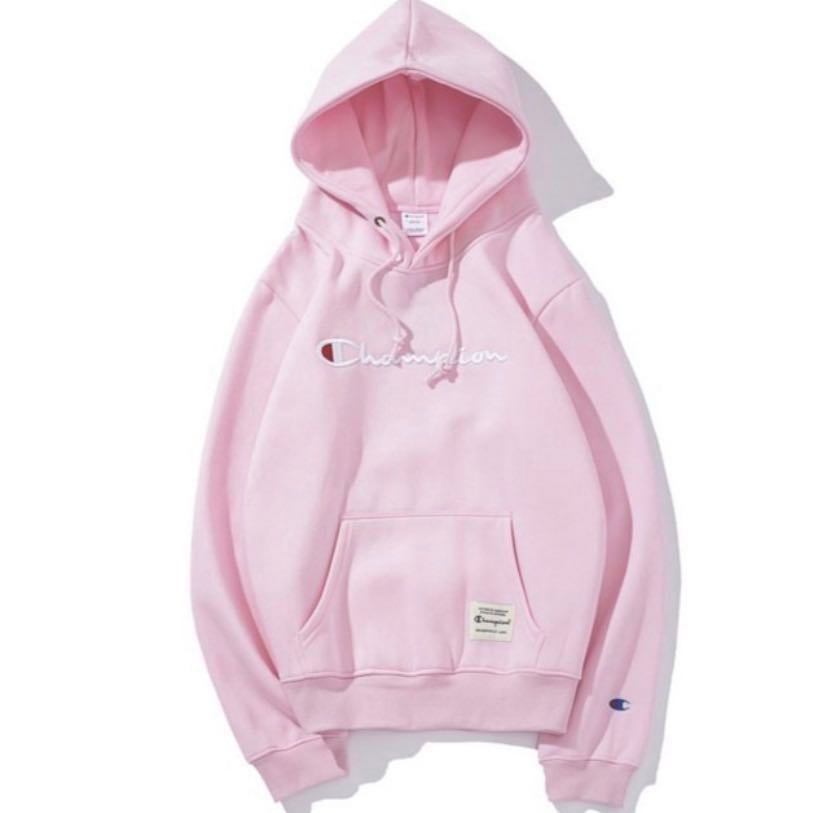 competitive price 70dcf 82f95 pink Champion hoodie , Women s Fashion, Clothes, Outerwear on Carousell