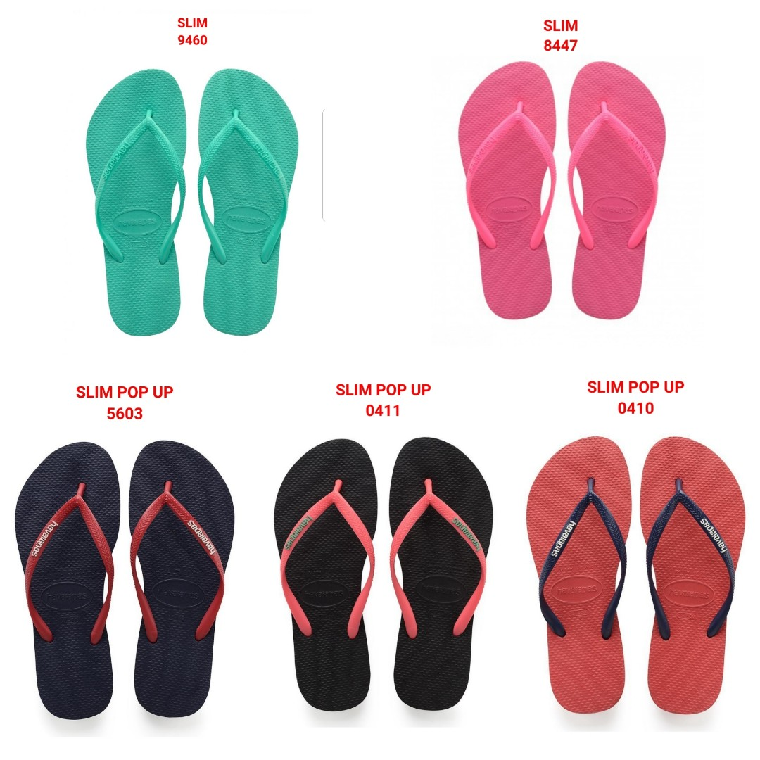 4b8ac28ce PO NEW COLOURS   SIZES!  Havaianas Flip Flops Slim (Women)
