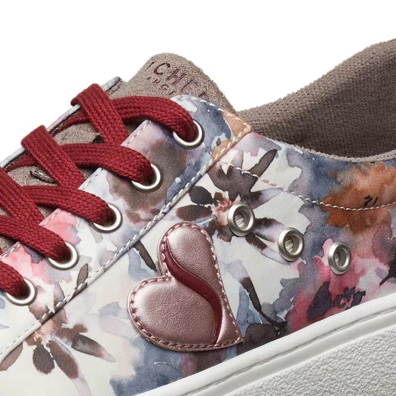 PO] Skechers Street Los Angeles Flower Lace up Women's shoes