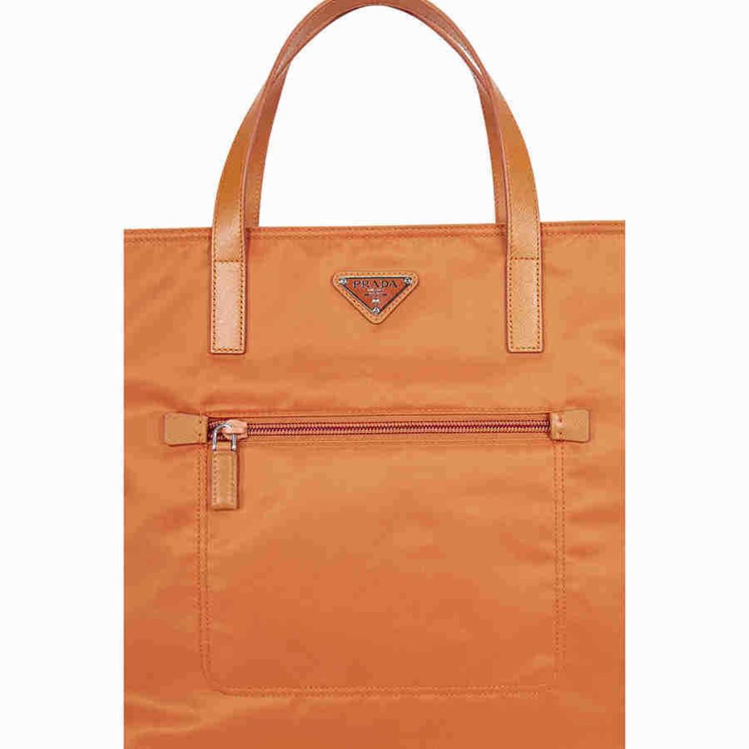964d8e8bf126 Prada Nylon Tote Bag - Orange B2530 TF0S73