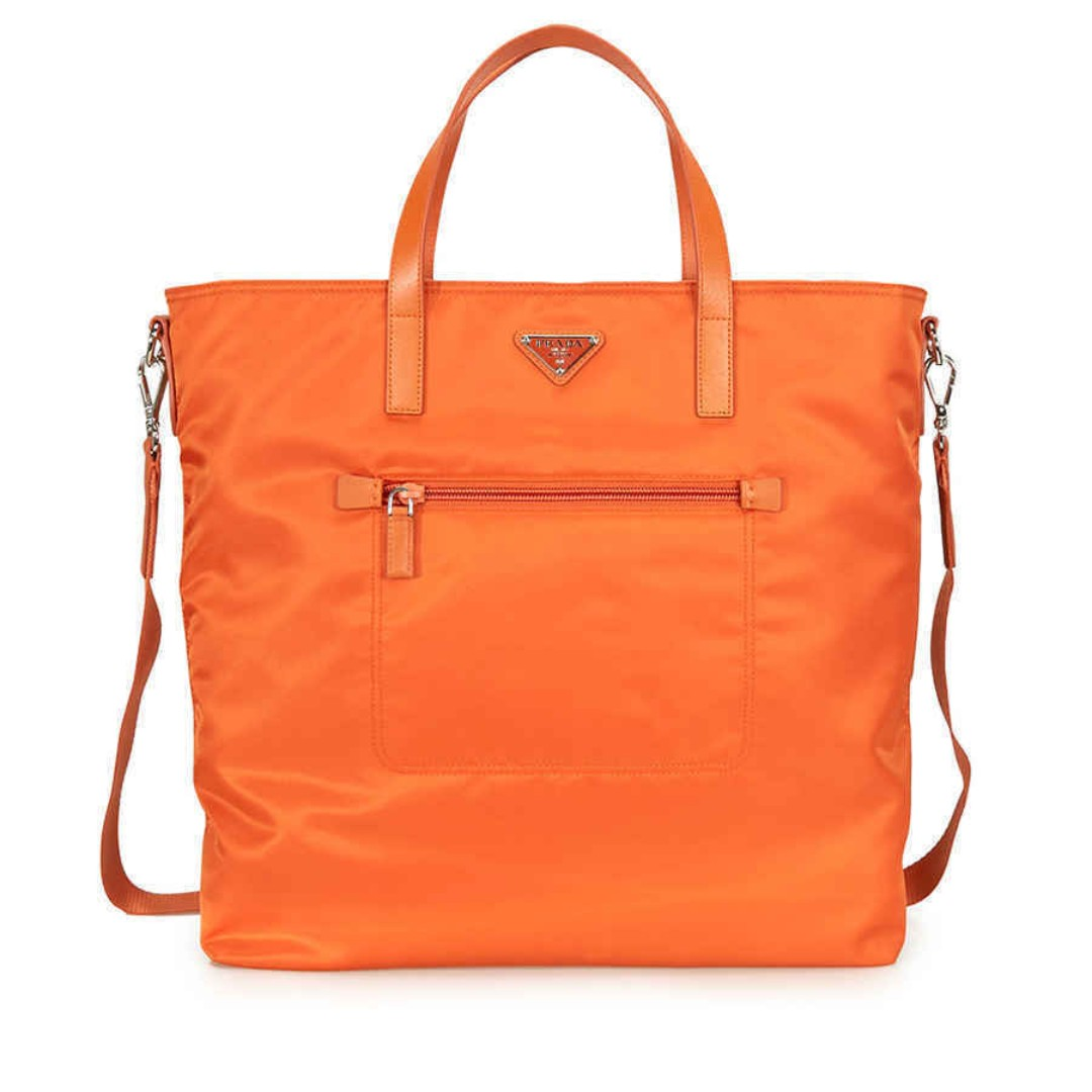 d523aed2eef8 Prada Nylon Tote Bag - Orange B2530 TF0S73, Luxury, Bags & Wallets ...
