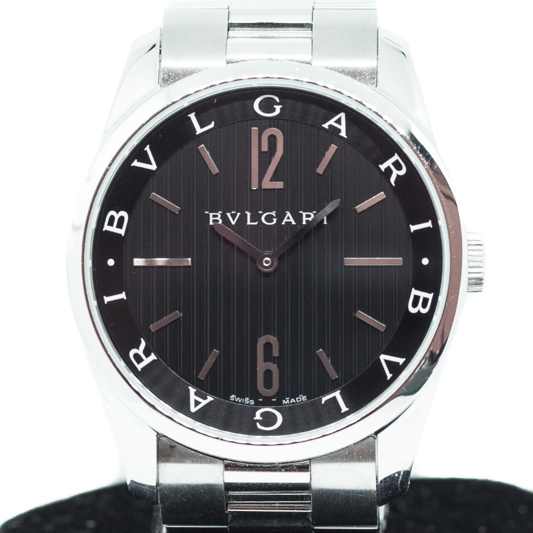 check out de902 6a7b2 Preowned Bulgari Solotempo Ref: ST42S