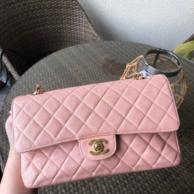 3cb072fd7e14 Price down for fast deal! Chanel pink classic Flap Bag medium size ...