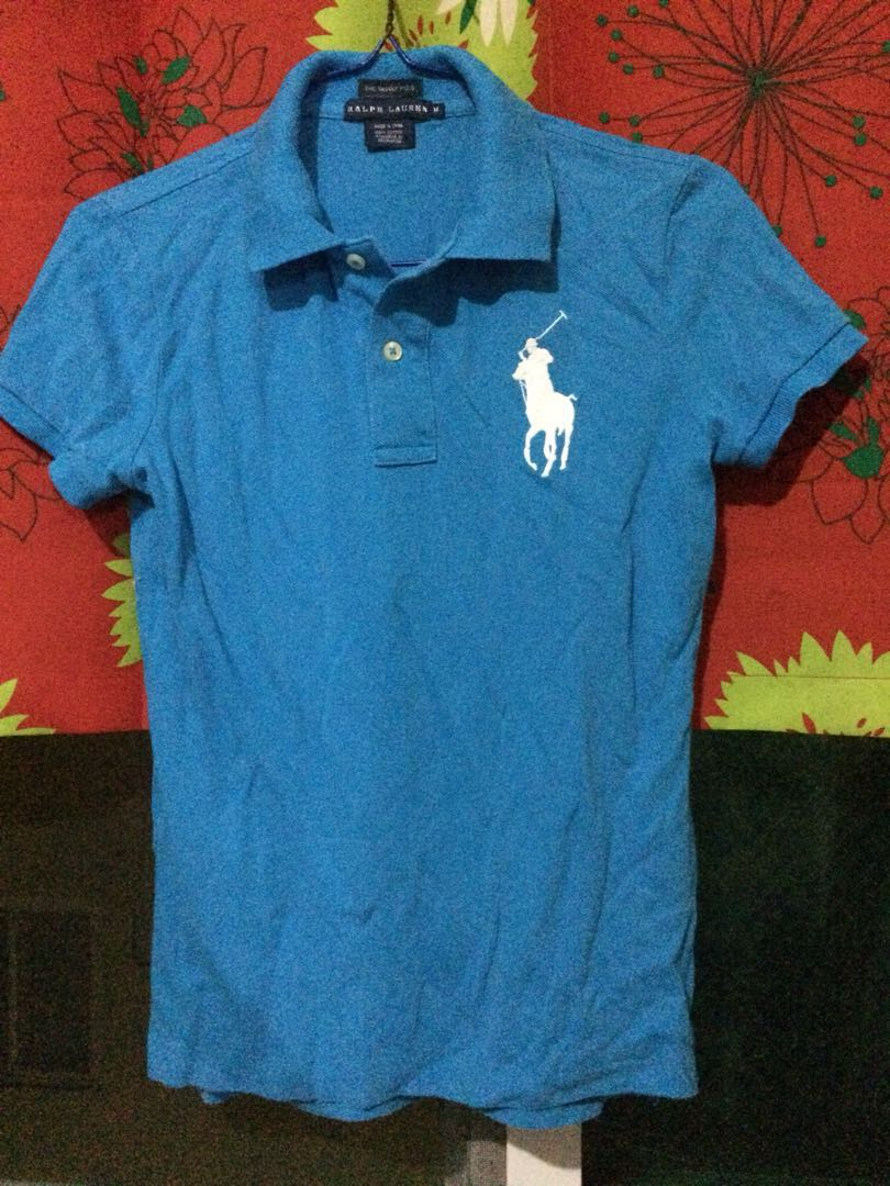 0201b356 Ralph Lauren Skinny Polo BLUE, Women's Fashion, Clothes, Tops on ...