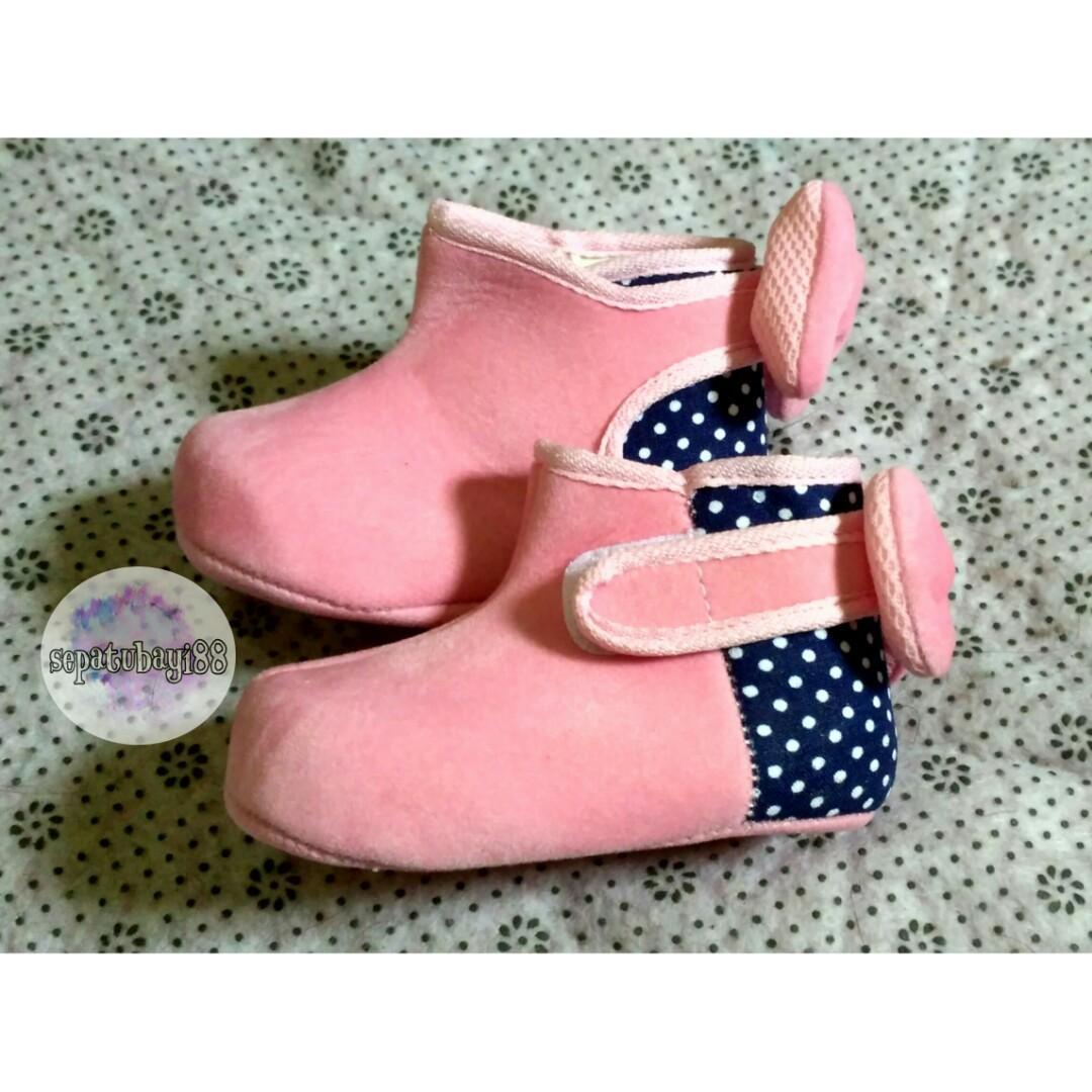 TURUN HARGA ! sepatu bayi prewalker Boots cewek #ibuhebat