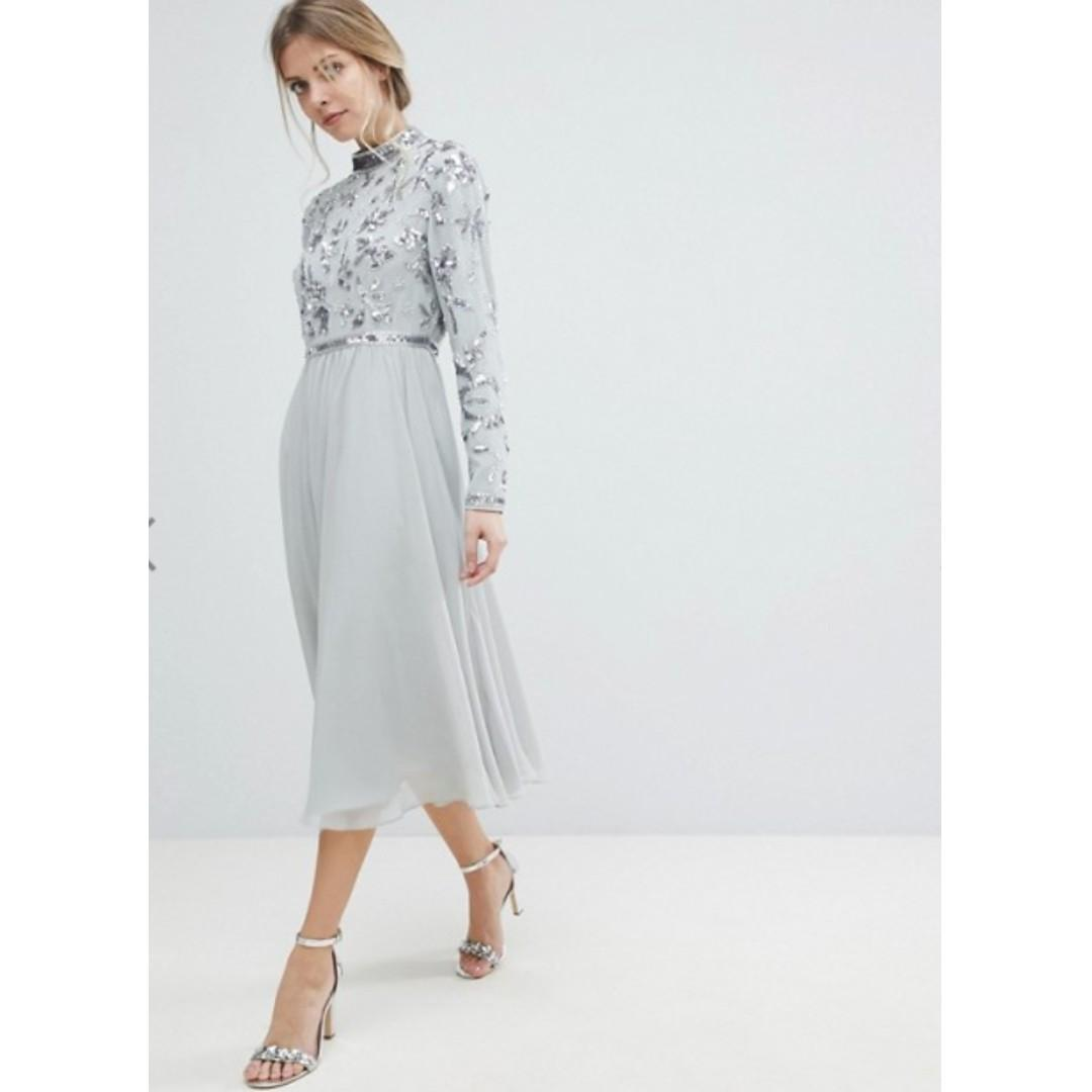 Silver Embellished Prom/Formal/Occasion Dress (ASOS)