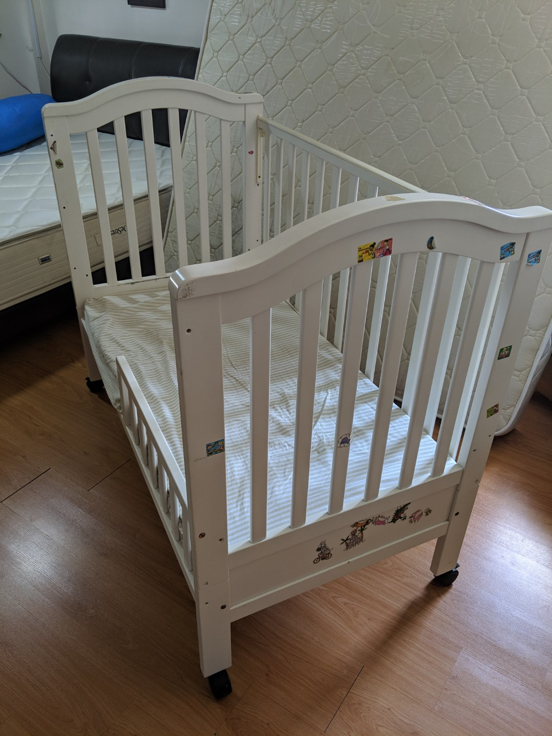 Slightly Used Baby Crib Babies Kids Cots Cribs On Carousell