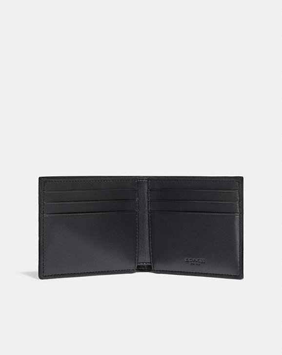 f43f10fe19 Slim Brand NEW Coach Billfold Wallet In Signature Canvas With Varsity Stripe