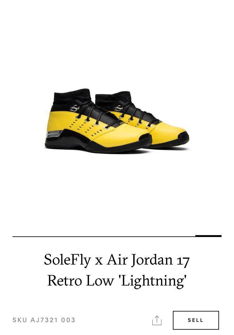 c6674448ae2804 Solefly x Air Jordan 17 Retro Low Lightning