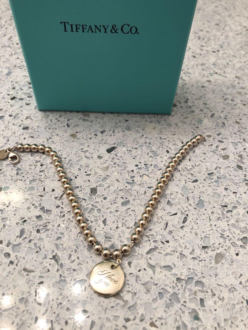 "Tiffany I love you mini bead bracelet. 7"" in length. Not Negotiable !"
