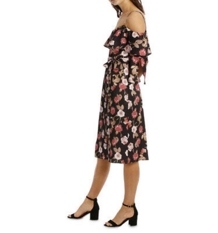 TOKITO COLLECTION Cold Shoulder Floral Dress