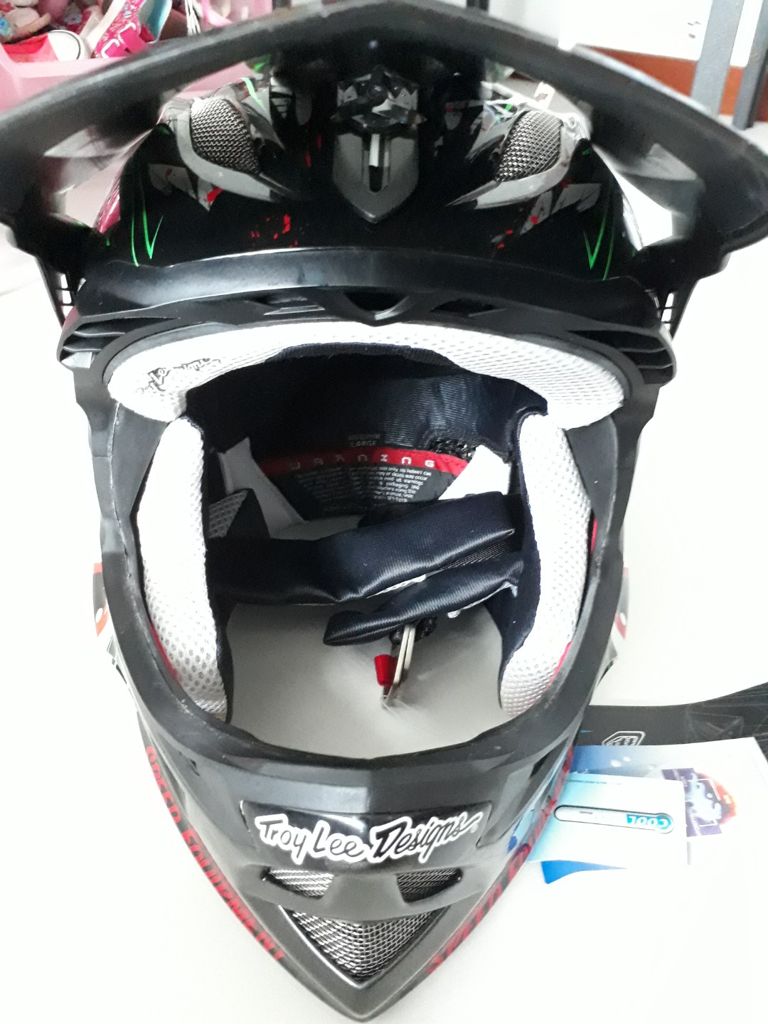 88294c68 Troy Lee Designs D3 composite full-face, Bicycles & PMDs, Bicycles,  Mountain Bikes on Carousell