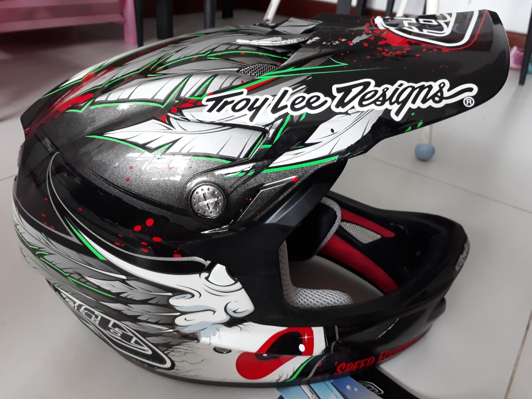 3a509736 Troy Lee Designs D3 composite full-face, Bicycles & PMDs, Bicycles ...