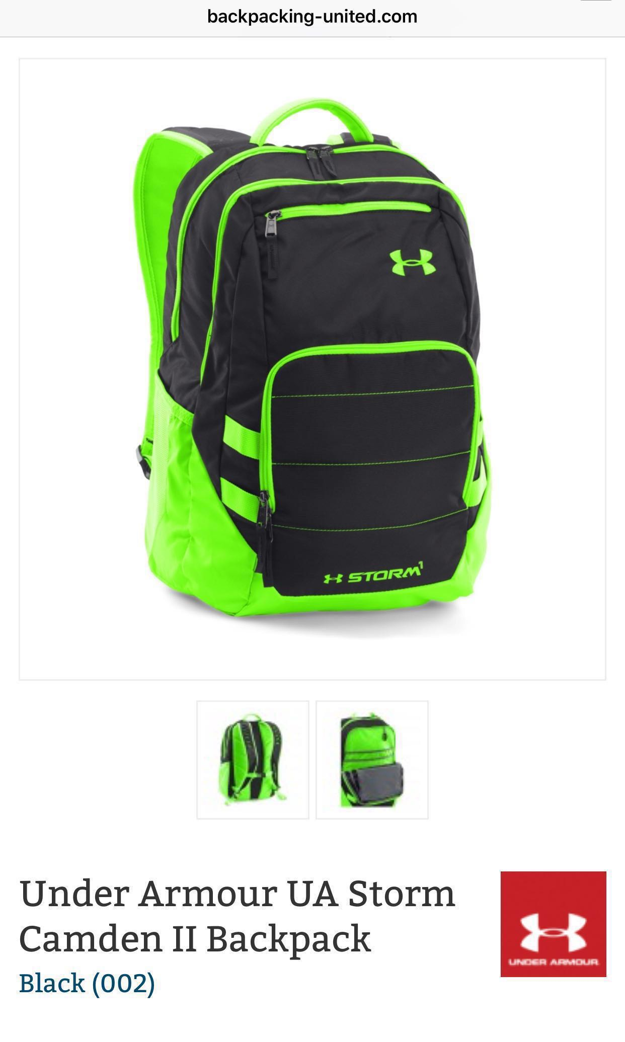 5471f7b2f7 Under Armour Storm Camden II Backpack