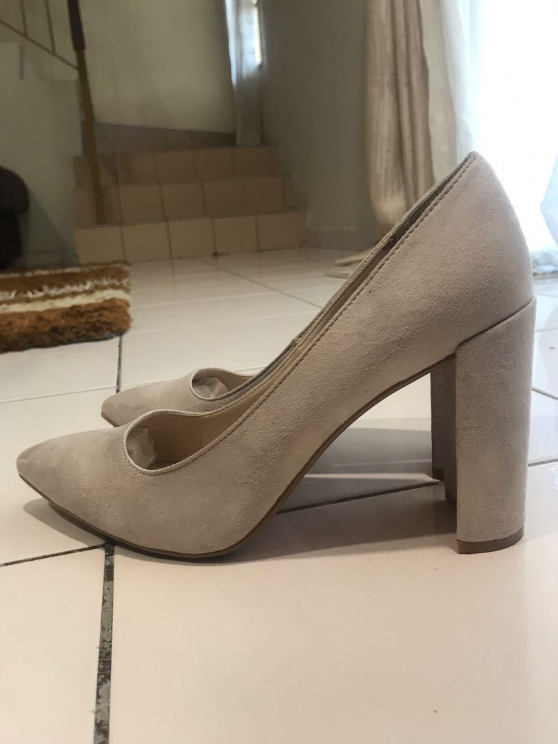 Zalora Suede Block Heels Pump b9c2340cd4