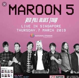 Maroon 5 VIP Priority Entry LIVE in Singapore 2 tickets