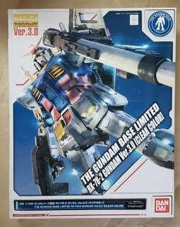 THE GUNDAM BASE LIMITED MG1/100 RX-78-2 GUNDAM VER 3.0 (CLEAR COLOR)