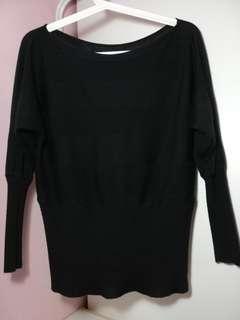 #GayaRaya Knitwear Black Top