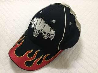 Snapback Skull Fire Cap