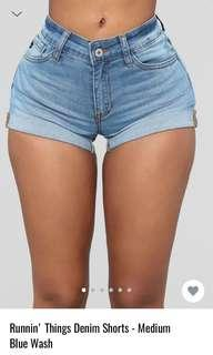 Fashionnova High Waisted Denim Shorts