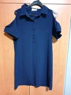🚚 Blue stripe dress