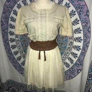 Denim Dress ( comes with belt )