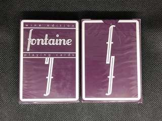 Wine Fontaine Playing Cards 啤牌 撲克牌