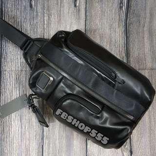 Tumi Alpha bravo smith sling leather bag bpdypack bodybag
