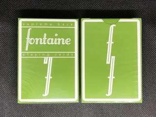 Green Fontaine Playing Cards 啤牌 撲克牌