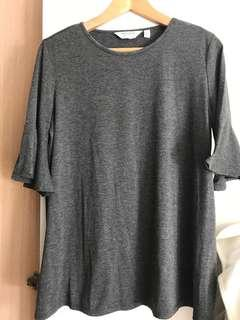 Bell sleeve gray TOP