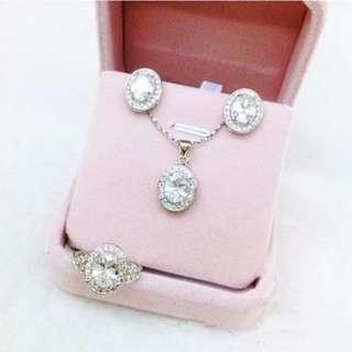 SELLING LOW!  Diamond Jewelry Set Bangkok Class A 4 In 1 Set For Adult