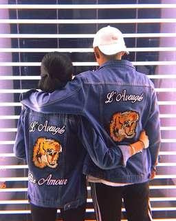 Unisex Gucci Tiger Denim Jacket