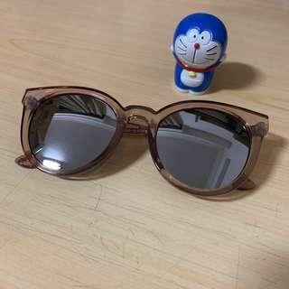 🚚 韓款水銀鏡片粗框墨鏡太陽眼鏡