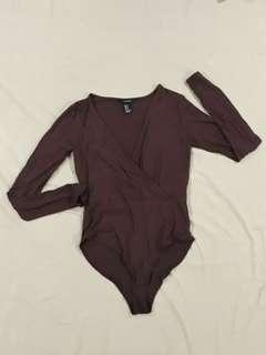 Forever 21 Maroon Body Suit
