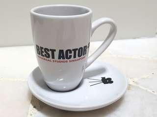 Universal Studios Singapore Hollywood - Best Actor Espresso Cup Saucer Set (White)