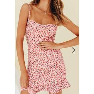 VERGE GIRL Venice Floral Mini Dress // Pink - Small - BRAND NEW