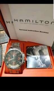 HAMILTON 漢米爾頓 KHAKI Aviation GMT 兩地時間