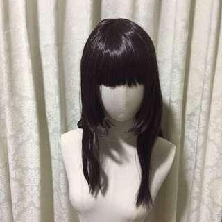 🚚 Dark Brown Wig - Shoulder Length