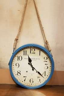 Hanging Blue Clock