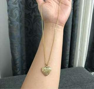 Heart Pendant Necklace 18k Saudi Gold