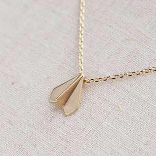 Airplane paper airplane necklace forever 21 inspired f21 h&m inspired