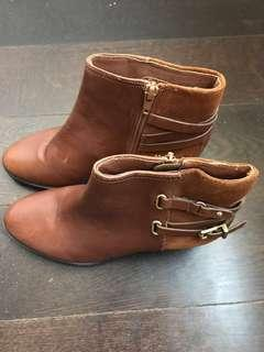 Brown Booties (Size 6)