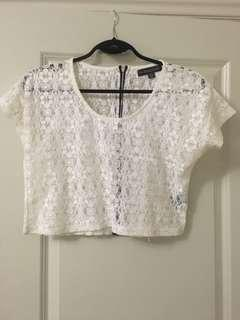 LACE CROP TOP $5