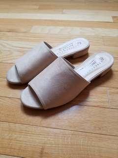 Faux-suede Mules Size 9
