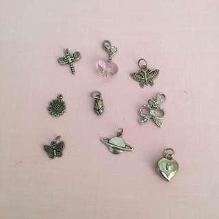 key/necklace charm bundle