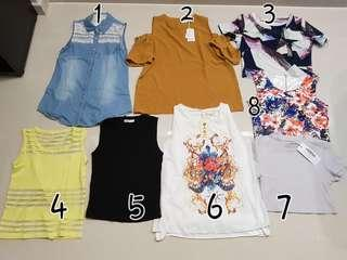 Post CNY tops for fast grabs!
