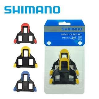 (Discount) (Original from Japan) Shimano SH11 (Yellow) SH12 (Blue) Cleats (Two Sets for even More Discount)